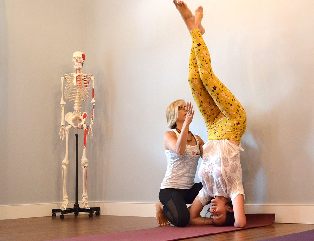 Yoga teacher, teaching student at Yoga Union